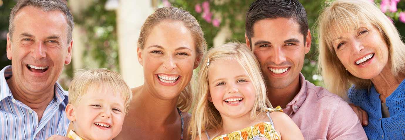 glückliche Familien-Generation